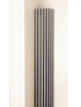Apollo Bassano Vertical 325 x 1400mm Quarter Round White Radiator