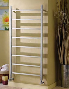 More info Apollo Genova Straight Brushed Stainless Steel Towel Warmer 500 x 1200mm