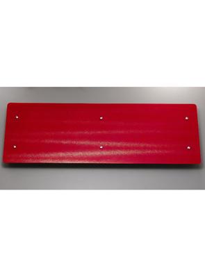 Apollo Ferrara Red Glass 1420 x 500mm Stainless Steel Horizontal Radiator