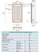 Apollo Ferrara 500 x 1220mm Stone Vertical Radiator