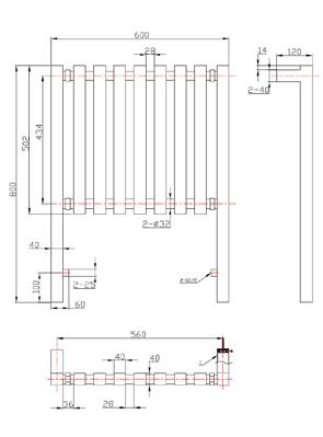 Phoenix Ava 600 x 800mm Chrome Floor Standing Designer Radiator