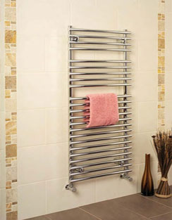 More info Apollo Pavia Tube On Tube Towel Warmer 500 x 800mm White