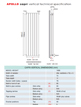 Apollo Capri Double Panelled White Designer Radiator 600 x 1400mm