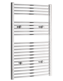 More info Tivolis Chrome Curved Heated Towel Rail 750 x 1000mm