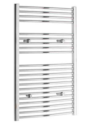 Tivolis Curved Chrome Heated Towel Rail 400 x 1000mm