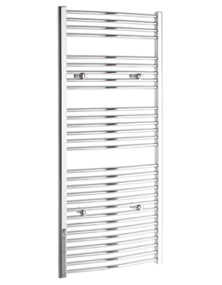 More info Tivolis Chrome Curved Heated Towel Rail 750 x 1400mm