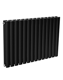 More info Reina Neva Horizontal Black Double Panel Designer Radiator 1180 x 550mm