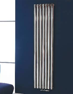 More info Phoenix Louise Vertical 420 x 1800mm Chrome Designer Radiator