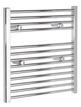 Tivolis Chrome Straight Heated Towel Rail 750 x 600mm