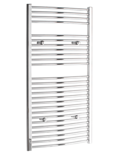 More info Tivolis Chrome Curved Heated Towel Rail 750 x 1200mm