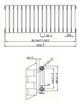 Phoenix Lilly Horizontal 1032 x 400mm White Designer Radiator