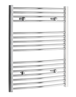 More info Tivolis Curved Chrome Heated Towel Rail 500 x 800mm