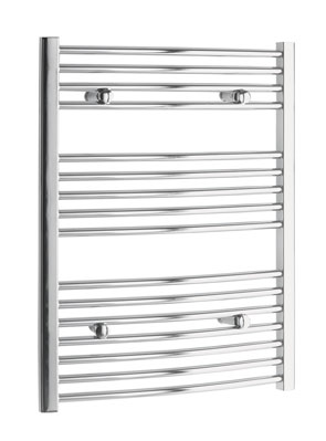 Tivolis Curved Chrome Heated Towel Rail 500 x 800mm