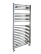 Reina Diva Chrome Flat Heated Towel Rail 450 x 1200mm