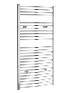 Related Tivolis Curved Chrome Heated Towel Rail 400 x 1200mm