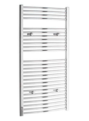 Tivolis Curved Chrome Heated Towel Rail 300 x 1200mm