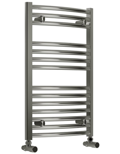More info Reina Diva Chrome Curved Heated Towel Rail 750 x 800mm