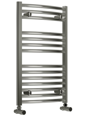 Reina Diva Chrome Curved Heated Towel Rail 400 x 800mm