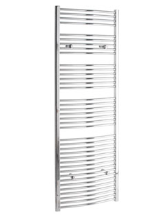 More info Tivolis Curved Chrome Heated Towel Rail 750 x 1800mm
