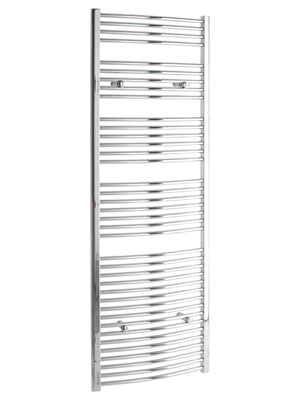 Tivolis Curved Chrome Heated Towel Rail 400 x 1800mm