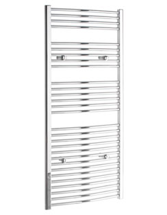 More info Tivolis Curved Chrome Heated Towel Rail 300 x 1400mm