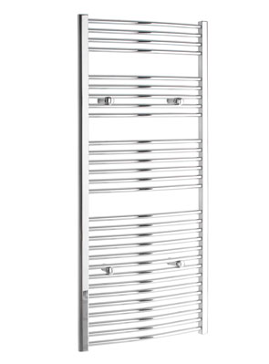 Tivolis Chrome Curved Towel Rail 450 x 1600mm