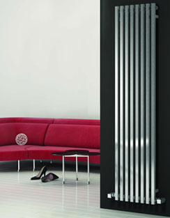 More info Reina Cascia Chrome Designer Radiator 400 x 1800mm