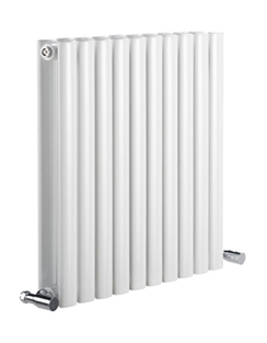 More info Reina Neva Horizontal White Double Panel Designer Radiator 413 x 550mm
