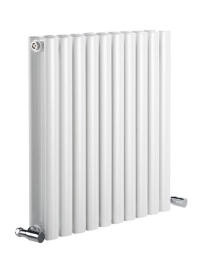Reina Neva Horizontal White Double Panel Designer Radiator 590 x 550mm