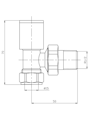 Phoenix Minimalistic Angled Chrome Radiator Valves