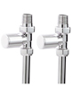 Phoenix Minimalistic Straight Chrome Radiator Valves