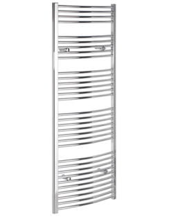 More info Tivolis Curved Chrome Heated Towel Rail 700 x 1600mm
