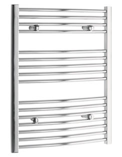 More info Tivolis Chrome Curved Heated Towel Rail 700 x 600mm