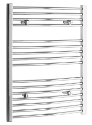 Tivolis Chrome Curved Heated Towel Rail 750 x 600mm