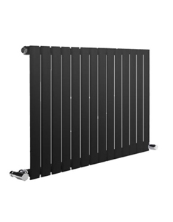 More info Reina Neva Horizontal Black Single Panel Designer Radiator 413 x 550mm