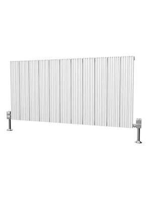 Reina Enzo White Aluminium Horizontal Radiator 850 x 600mm