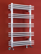 Phoenix Jade 500 x 800mm White Designer Heated Towel Rail