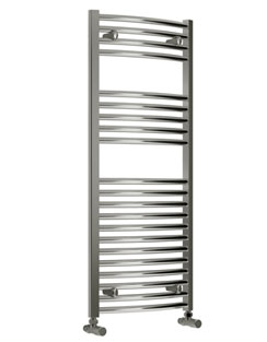 More info Reina Diva Curved Thermostatic Electric Towel Rail 400 x 1200mm Chrome