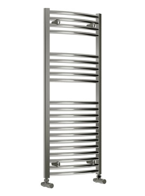 Reina Diva Curved Thermostatic Electric Towel Rail 600 x 1200mm Chrome