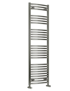 More info Reina Diva Curved Standard Electric Towel Rail 400 x 1600mm Chrome