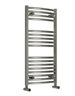 More info Reina Diva Curved Thermostatic Electric Towel Rail 600 x 1000mm Chrome
