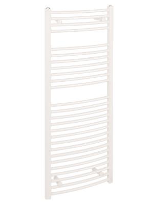 Reina Diva Curved 500 x 1200mm White Standard Electric Towel Rail