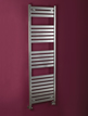 Phoenix Ascot 500 x 1000mm Chrome Designer Heated Towel Rail