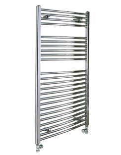 More info Reina Diva Chrome Flat Heated Towel Rail 600 x 1000mm