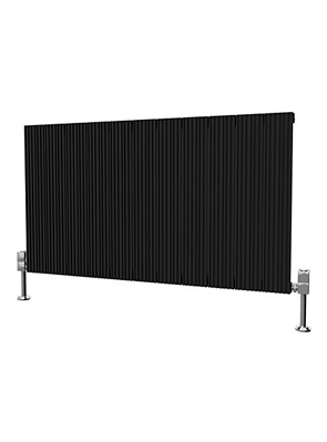 Reina Enzo Black Aluminium Horizontal Radiator 1040 x 600mm