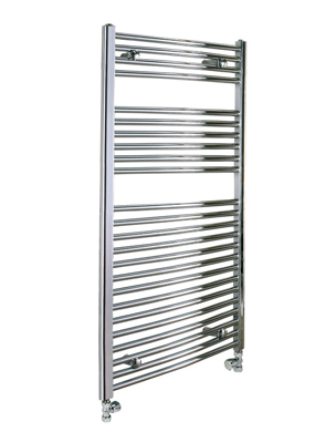 Reina Diva Chrome Flat Heated Towel Rail 600 x 1200mm