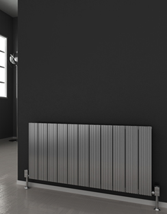 More info Reina Enzo Polished Aluminium Horizontal Radiator 470 x 600mm