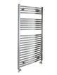 Reina Diva Chrome Flat Heated Towel Rail 750 x 1200mm