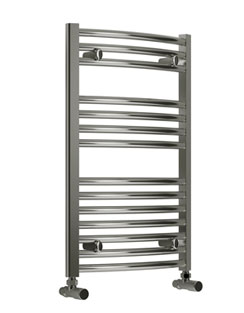 Related Reina Diva Curved Standard Electric Towel Rail 750 x 800mm Chrome