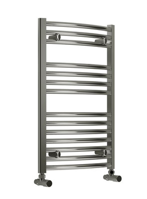 Reina Diva Flat Thermostatic Electric Towel Rail 450 x 800mm Chrome